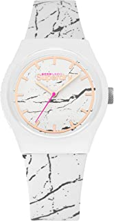 Superdry Urban Marble Women Analogue Watch With White Dial And White Silicone Strap - SYL253WE