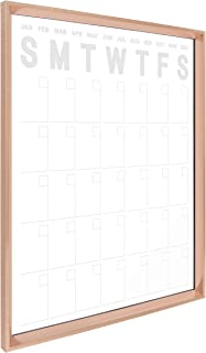 Kate and Laurel Calter Modern Wall Calendar, Large Framed Erasable Month-at-A-Glance Planner with Clear Acrylic Surface, Rose Gold 25.5 x 31.5 Inches