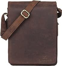 LEADERACHI Shoulder bag crossbody bag 10 inch tablet bag leather bag in vintage style for men women