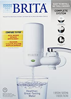 Brita COMINHKR063772 Tap Faucet Water, Includes:1 System+2 Filters, White