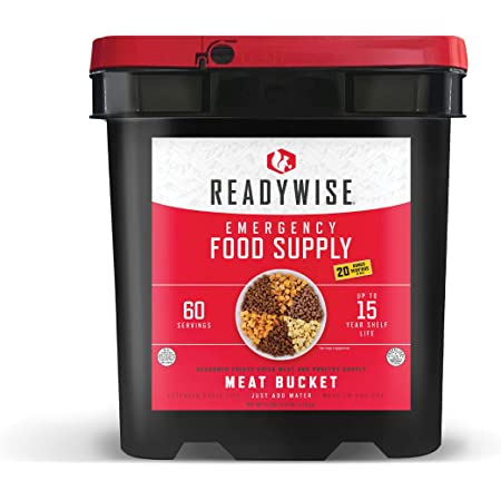ReadyWise Emergency Food Supply, Freeze Dried Meat Variety, 15-Year Shelf Life, 60 Servings