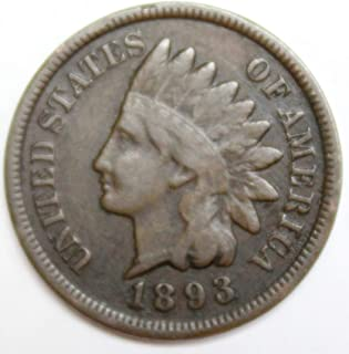 1893 Indian Head Cent 1C Very Good