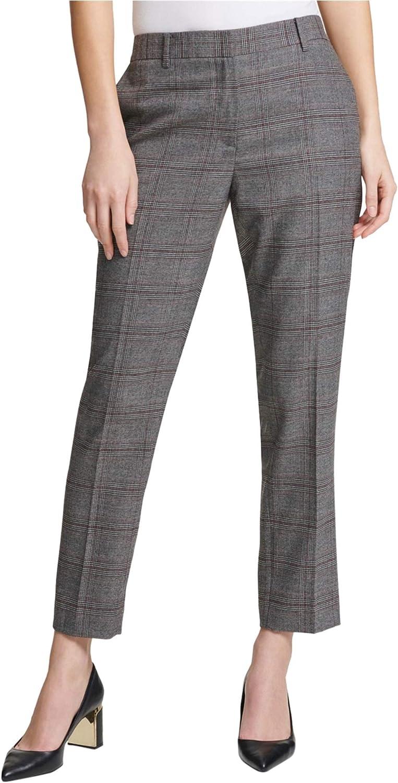 DKNY Womens v Casual Trouser Pants, Grey, 4
