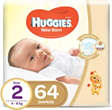 Huggies New Born, Size 2, 4-6 kg, Jumbo Pack, 64 Diapers