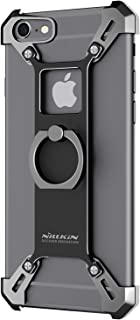 for iPhone 6s Plus Case, Nillkin Barde Metal Case [Unique Design] Aircraft Grade Aluminum + Zinc Alloy Assembled Metal Bumper Frame Back Cover with Ring Kickstand for iPhone 6 Plus 5.5