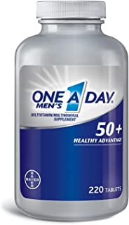 One A Day® Men's 50+ Multivitamin (220 Tablets) (Pack of 6)