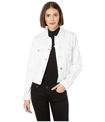 MICHAEL Michael Kors Frayed Denim Jacket (White) Women
