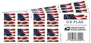 USPS US Flag Forever Stamps - 80 Stamps (Four Books of 20)