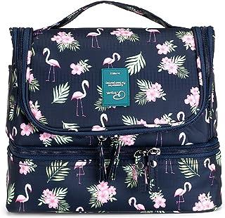 7e66ea922687 IGNPION Double Layer Make up Cosmetic Bag Unisex Travel Toiletry Wash Bag  Waterproof Bathroom Organiser with