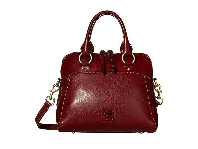 Dooney & Bourke Florentine Cameron Satchel (Bordeaux/Self Trim) Satchel Handbags