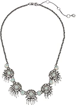Marchesa - Lighter Than Air 16 in Cluster Frontal Round Embellishment Necklace