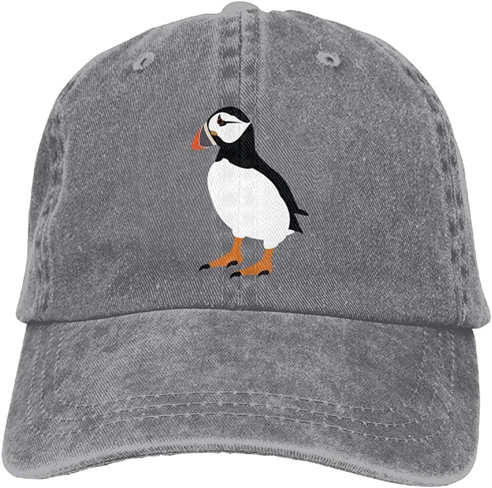 Puffin Bird Adjustable Baseball Cap Trucker Hats for Men and Women