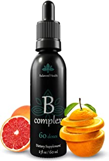 Sponsored Ad - Balanced Health Liquid Vitamin B-Complex Drops, Immune Energy Support Supplement All 8 B Vitamins Non GMO V...