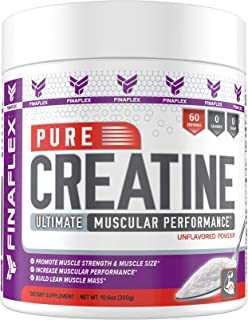 Pure CREATINE, Ultimate Muscular Performance, Promote Strength and Size, Increase Performance, Build Lean Muscle Mass, Unflavored (300g, Unflavored)