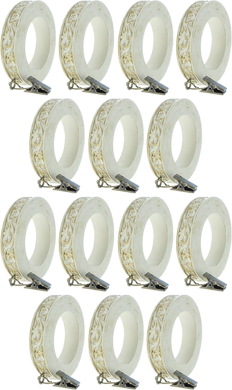 Urbanest Set 5 ☆ very popular of 14 French Columbus Mall Scroll Rings 4-i 3 Curtain Designer 1