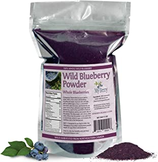 Wild Blueberry Powder-100% Whole Berry; No Pesticides, 6oz, Not A Concentrate, Extract, Juice Powder, Freeze-Dried, Nor A Bilberry