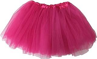 So Sydney Ballerina Basic Girls Ballet Dance Dress-Up Princess Fairy Costume Dance Recital Tutu (Hot Pink)