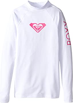 Roxy Kids Whole Hearted Long Sleeve Rashguard (Big Kids)