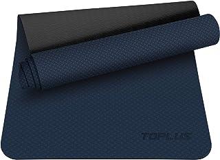 TOPLUS Premium yogamatta av högkvalitativ TPE, halkfri gymnastikmatta, träningsmatta, sportmatta för yoga, pilates, fitnes...