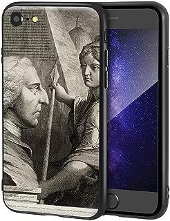 James Barry iPhone SE(2020)/iPhone 7/8用ケース/ファインアート携帯電話ケース/高解像度ジクレーレベルUV複製プリント、携帯電話カバー(ウィリアムピットアールオブチャタム)