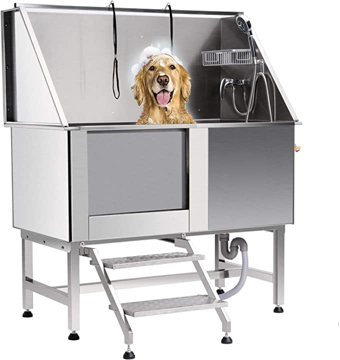 Vasca da bagno per cani da 50 pollici vasca toelettatura professionale per animali z zelus B087CN3SBW