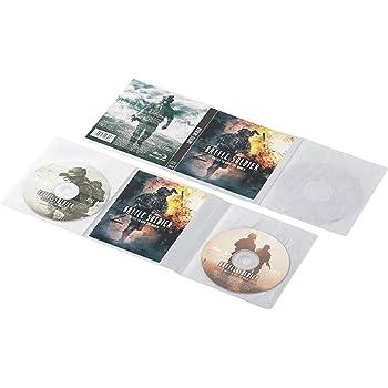 エレコム BD DVD CDケース 圧縮ケース Blu-ray対応 2枚収納 10枚 ホワイト CCD-DP2B10WH
