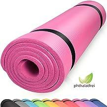 diMio Comfort-gymnastiekmat yogamat in 185x60x1cm, 185x60x1,5cm, 185x90x1,5cm, 200x100x2 met draagriem ftalaatvrij + SGS-g...