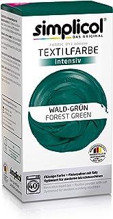 Simplicol Intensive - Kit Teinture Express Machine (Colorant Liquide + sel fixateur)- Paquet de 600g - Vert forêt