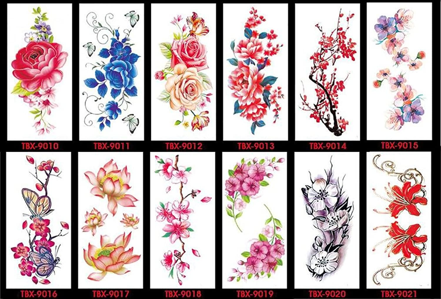 D&F Lady Flower Tattoos Stickers Fashion Body Art Stickers Waterproof Safe And Non-Toxic Unique Design