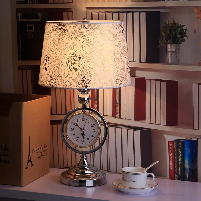 DLewiee Europäische Kreative Nachttischlampe Schlafzimmer Lampe Retro-Uhren Höhle Eisen-Lampen B01JGNP6VE | Won hoch geschätzt und weithin vertraut im in- und Ausland vertraut