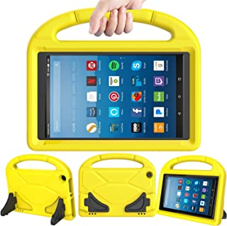 LEDNICEKER Kids Case for Fire HD 8 2018/2017 - ShockProof Handle Friendly Convertible Stand Kids Case for Fire HD 8 inch Tablet (7th & 8th Generation Tablet, 2017 & 2018 Release) -Yellow