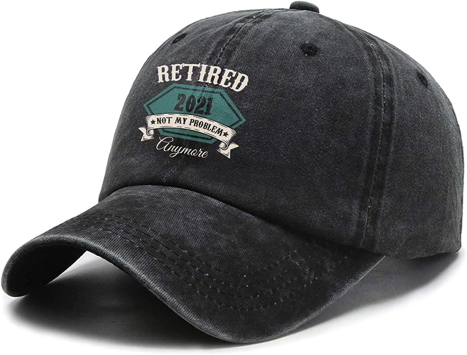 Retired 2021 Not My Problem Anymore Hat,Adjustable Baseball Cap Unisex Washable Cotton Trucker Cap Dad Hat …