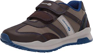 GEOX Boys' CORIDAN 8 Sneaker Dual Riptape Strap, BRWN, Brown Beige, 32 M EU Little Kid (1 US)