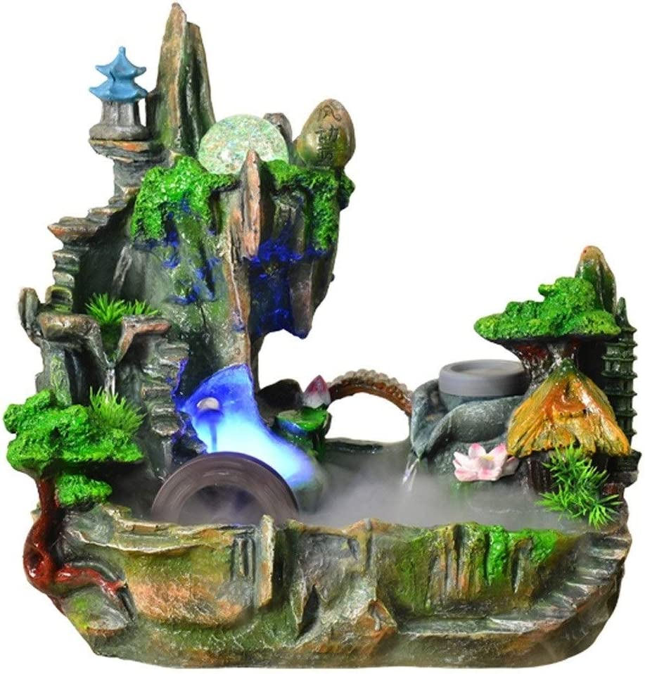 Challenge the lowest price of Japan LSSAZ Tabletop Decorative All items free shipping Waterfall Resin Fountain Desktop Water