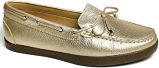 Driver Club USA Genuine Leather Made in Brazil Boat Shoe With Tiebow Detail