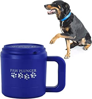 Paw Plunger for Dogs – Portable Dog Paw Cleaner for Muddy Paws – This Dog Paw Washer Saves Floors, Furniture, Carpet and Vehicles from Paw Prints – Soft Bristles, Convenient Cup Handle