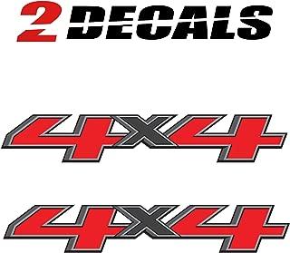 TiresFX GMC Sierra 4x4 Truck Decals 2014-2017 Bedside Replacement Stickers/Set of 2