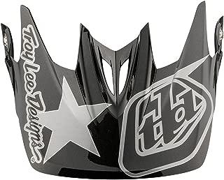 Troy Lee Designs Adult D3 Visor Freedom BMX Helmet Accessories - Black/Gray/One Size