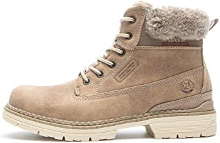 ef041d103e7c Womens Winter Flat Ankle Boots - AnjouFemme Ladies Walking Hiking Boots