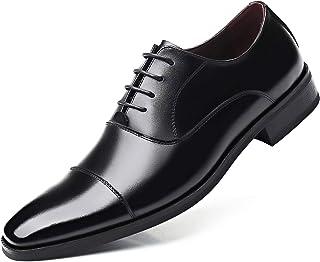 [poerkan] ビジネスシューズ メンズ 紳士革靴 ストレートチップ ロングノーズ 本革 内羽根 大きいサイズ 冠婚葬祭 24.0cm~30.0cm