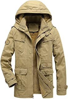 Joe Wenko Mens Slim Puffer Thicken Winter Zip Hooded Parkas Coats Jacket