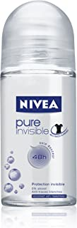 Nivea Pure Invisible Deodorant Roll-On, 1.7 Fluid Ounce (Pack of 2)