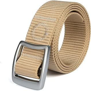 Men's Tactical Heavy Duty Reinforced Nylon Belt Military Webbing Flexible Outdoor