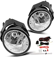 AUTOSAVER88 Fog Lights H3 12V 55W Halogen Lamp For Nissan Sentra 2000-2003 Frontier 2001-2004 Xterra 2002-2004 Maxima 2000-2001 (Clear Lens w/Bulbs & Wiring Harness)