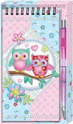 DISOK Lot de 23 cahiers + stylos Hiboux dans Une Boîte Cadeau - Ensemble de Papeterie pour Enfants pour Enfants. Cas et Papeterie. Détails, Cadeaux et Souvenirs pour Les Enfants