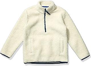 Amazon Essentials Boys Polar Fleece Lined Sherpa Quarter-Zip Jackets