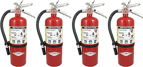Amerex B402 DFHJTEU 5lb ABC Dry Chemical Class A B C Fire Extinguisher, with Wall Bracket, 4 Pack