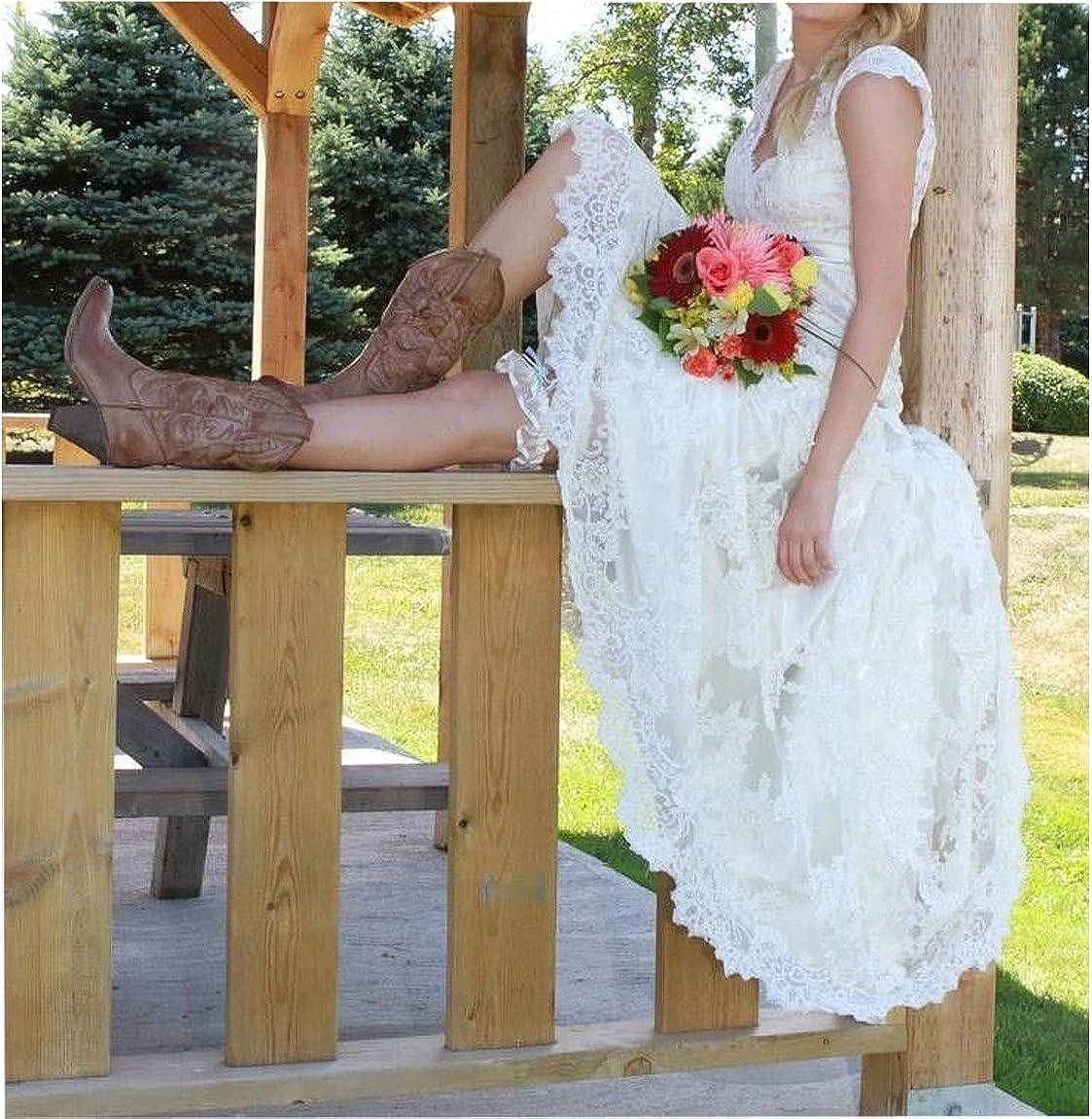 Amazon.com Ainisha Women's High Low Country Style Wedding Dresses ...