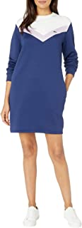 Women's Long Sleeve French Terry Colorblock Dress