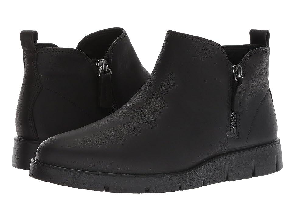 ECCO Bella Zip Low Bootie (Black Yak Leather) Women